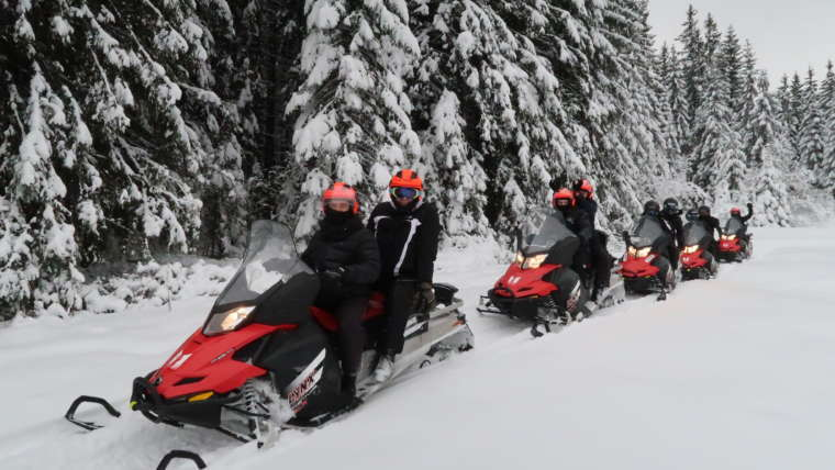 Snowmobile tours are becoming more and more popular